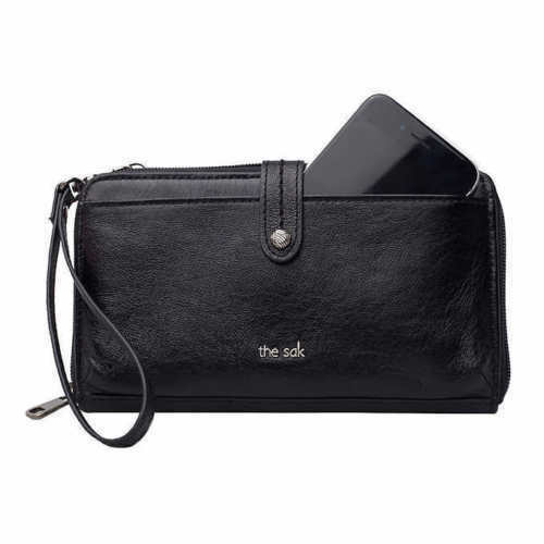 The SAK Genuine Leather 3in1 Black Phone Wallet Wristlet Crossbody Bag for  sale online  223d3a3c096ad