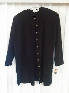 Harbour-View Women's NWT Navy Blue Button Sweater 1X Made In USA ...