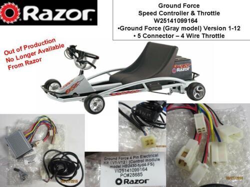 Razor Ground Force V1-12 Go Cart Controller Throttle Kit 5 Conn 4pin Throttle