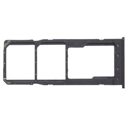 Para Samsung Galaxy A10 Dual Sim Bandeja de tarjeta de memoria Micro SD ranura soporte negro A105