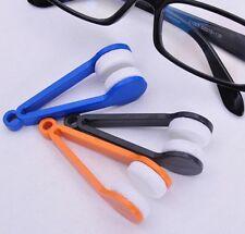 3PCS Mini Effektiv Sonnenbrille Microfiber Doppelseitig Bürste Reiniger Tragbar