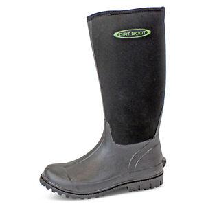 Dirt Boot ® Néoprène Wellington Muck Boot Pour Femme Homme Unisexe Noir-afficher Le Titre D'origine