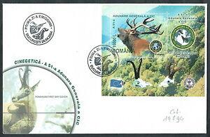 Franc 2004 Romania Fdc Foglietto Adunare Generala A Cic