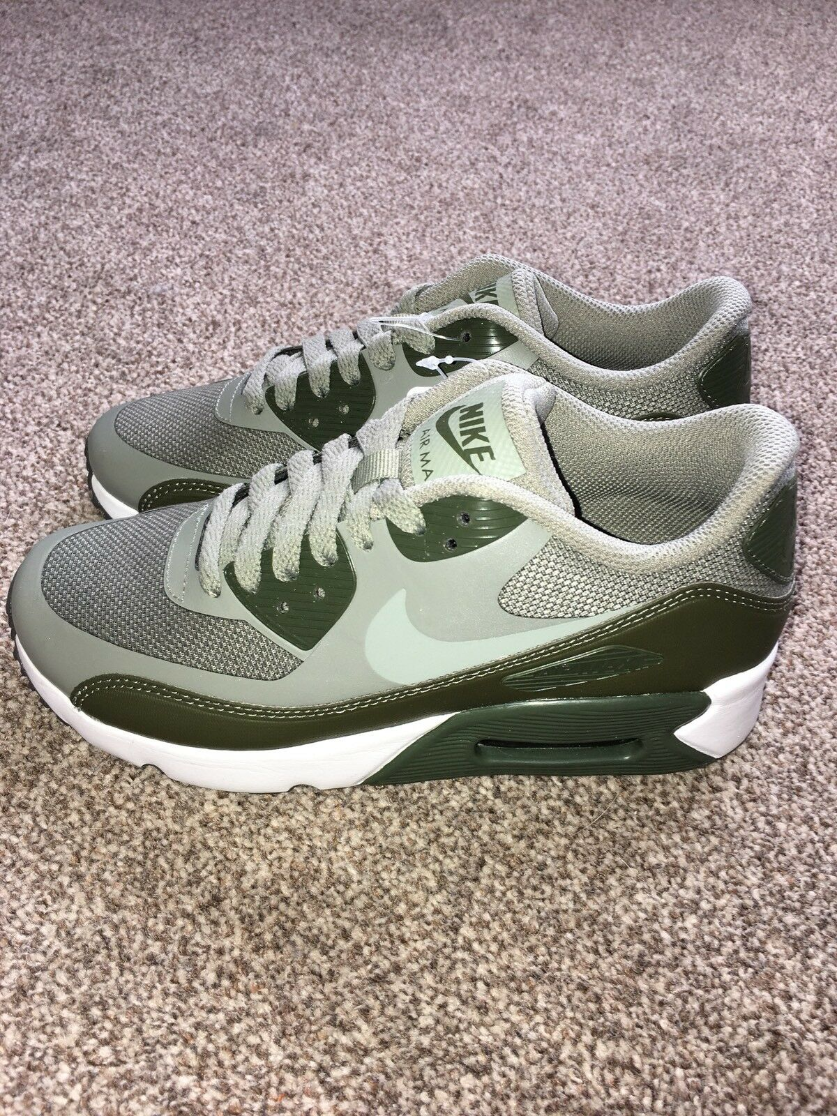 Nike Air Max 90 Ultra Ultra Ultra 2.0 GS Olive Blanc Taille UK 3 869950-009 951e80