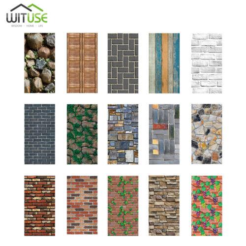 Simulation 3D Brick Stone Wall Sticker Self-adhesive Film Wallpaper 45x100cm 34