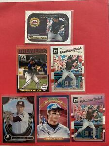 Christian Yelich Rookie, Refractors & Stars Card Lot Milwaukee Brewers 🔥