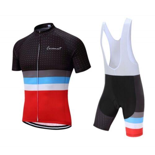 Men/'s Sports Bike Cycling Jersey Bib Shorts Sets Breathable Cycling Clothing