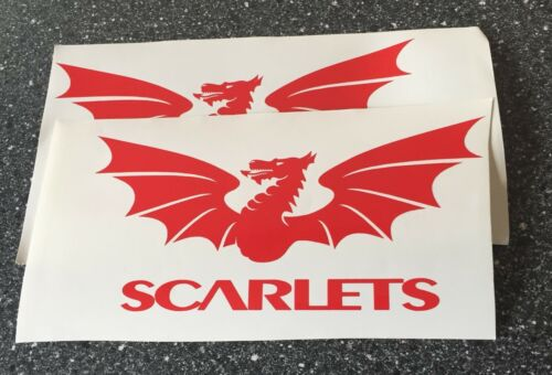 Operazioni Scarlets Decalcomania//Adesivo x 2.. dimensioni 183mm x 86mm o 120mm x 56mm
