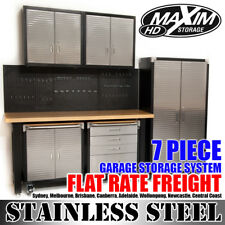 GARAGE STORAGE SYSTEM 7 Workbench Toolbox Cabinet Shed Cupboard Chest Car MAXIM