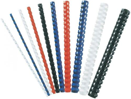 blau DIN A4 Fellowes Plastikbinderücken 21 Ringe 6 mm