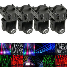 4PCS 50W RGBW LED Beam Moving Head Stage Lighting DMX512 DJ Disco Party Light