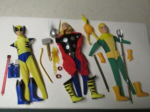 Captain-Action-Thor-Wolverine-Loki-Uniform-Sets-Reproduction-1-6-loose