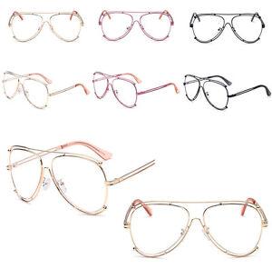 5fbf683bcb9 New Pilot Teardrop Classic Clear Lens Glasses VTG Eileen   Elisa ...