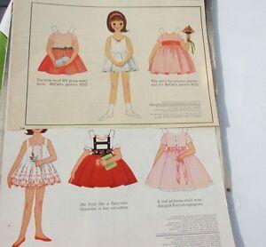 Betsy McCall Paper Dolls Fairy-Tale Land Rumpelstiltskin & Wedding Uncut 1962