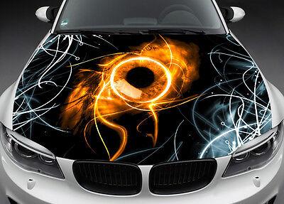 Dark Eye Full Color Graphics Adhesive Vinyl Sticker Fit any Car Hood Bonnet #015