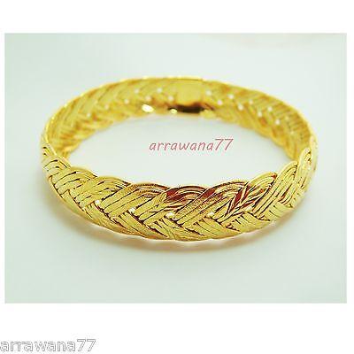 Braid 22k 23k 24k Thai Baht Yellow Gold Plated Filled Jewelry Bangle Bracelet