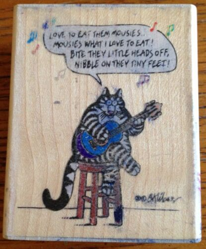 B Kliban Rubber Stamp Cat Lyrics Rare Rubber Stampede 1992