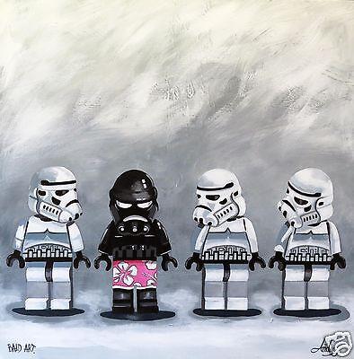 Stormtroopers Star Wars Lego Original ART PRINT PAINTING 500mm andy baker