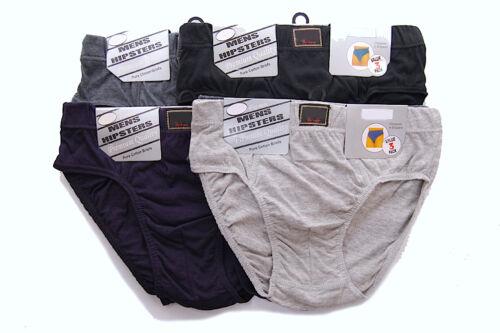 12 PAIRS Mens Briefs Slips Underpants Pants Cosy Jersey Cotton Blend UK Designed