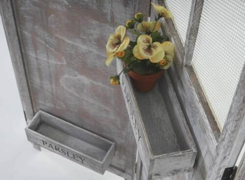 Paravent Örebro 177x182cm Raumteiler Trennwand Pflanzkörbe Shabby-Look Vintage