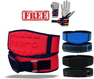 ISLERO-per-il-sollevamento-pesi-Palestra-Cinture-Neoprene-Gel-Back-Supporto-Cinghie-Wraps-Girovita