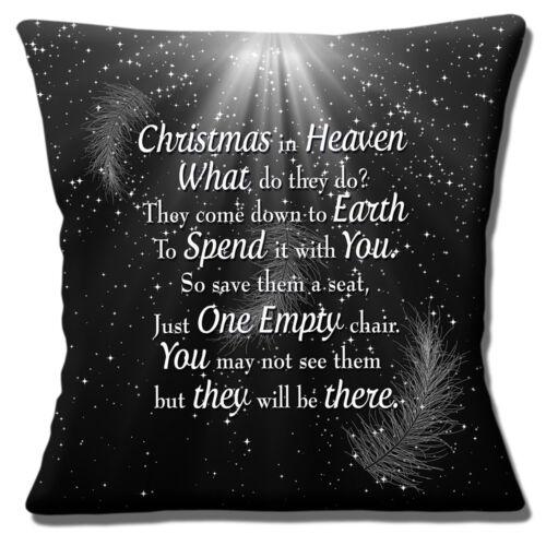 environ 40.64 cm Noël dans le ciel Housse de coussin que font-ils Noir 16 in 40 cm