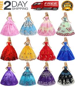 Muneca Barbie Inmenso Lote de Accesorios de ropa vestido fiesta vestido 10 SET