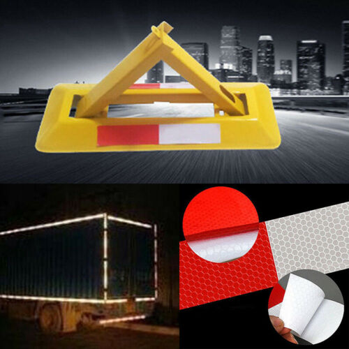 10PCS Car Truck Reflective Safety Tape Warning Night Light Reflector Sticker EL