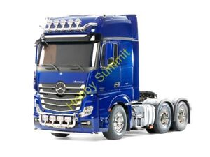 56354-1-14-R-C-Pearl-Blue-ACTROS-3363-6X4-GIGASPACE-Tractor-Truck-Tamiya-Kit