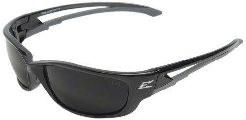 Edge Eyewear SK-XL116 Kazbek XL Safety Glasses Black with Smoke Lens