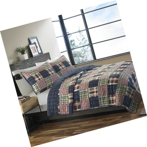 Full//Queen Free Shipping Eddie Bauer 215640 Madrona Cotton Quilt Set