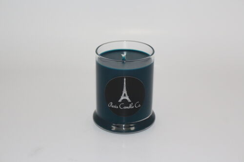 in Clear Round Glass Tumbler Handmade from Paris Candle Co. Soy Candle 7oz