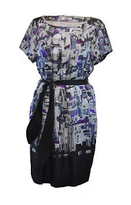 Nicole-Farhi-Fantastic-Silk-Dress-Blue-Grey-Purple-Uk-12-belt