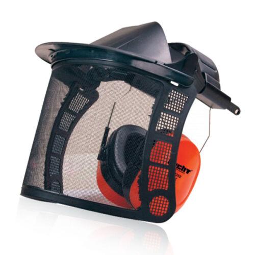 Hecht 900105 Gehör und Gesichtsschutz für Freischneiderarbeiten Orange EN 352