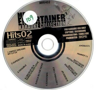 Karaoke Entertainment Mr Entertainer Karaoke Collection Hits 02 Mrh02 12 Massive Hits Lovely Luster