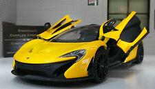 1:24 SCALA McLaren P1 dettagliate MotorMax Modello Diecast Auto 79325 VULCANO Giallo