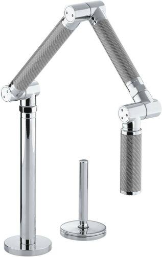 Polished Chrome NEW KOHLER K-6227-C11-CP Karbon Articulating Kitchen Faucet
