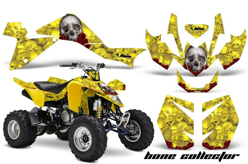 Atv Grafik Kit Quad Sticker für Suzuki Ltz400 2009-2016 Knochen Yllw