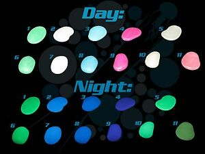 Image Is Loading Glow In The Dark Stones Fluorescent Pebbles Decorations