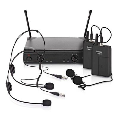 subzero szw 30 dual lavalier and headset wireless microphone system 5055888811892 ebay. Black Bedroom Furniture Sets. Home Design Ideas