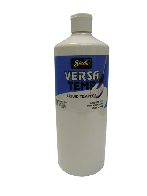 White Quart Sax Versatemp Heavy-Bodied Tempera Paint