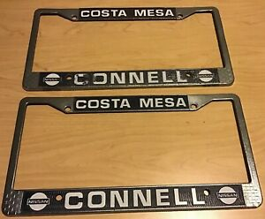 Costa Mesa Nissan >> Details About Connell Nissan Dealership Metal License Plate Frame Pair Costa Mesa California