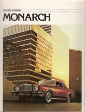 Mercury Monarch 1978 USA Market Sales Brochure 2-dr 4-dr Ghia ESS