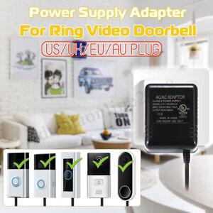 Ponctuel Us/uk/eu/au Plug 8m Transformateur Adaptateur D'alimentation Pour Sonnerie Vidéo Blanc De Jade