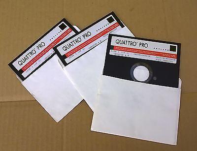 Quattro Pro Version 4.0 Insulation Disks Borland 1991 DOS for IBM & Compatibles