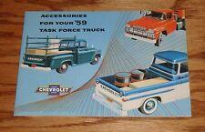 1959 Chevrolet Truck Accessories Sales Brochure 59 Chevy Pickup