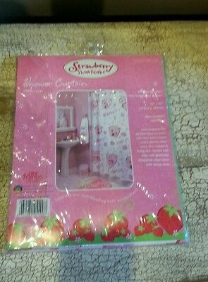 Strawberry Shortcake Vinyl Shower Curtain New