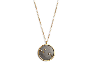 Satya jewelry reversible constellation pendant necklace gold diamond image is loading satya jewelry reversible constellation pendant necklace gold diamond aloadofball Choice Image