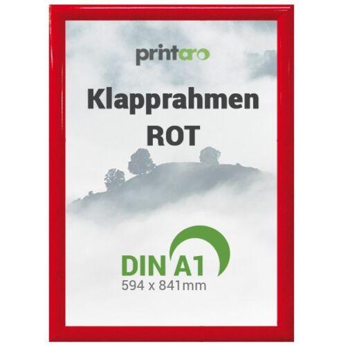 1 x DIN a1 ALU-pliante cadre affiche cadre en rouge ral3020