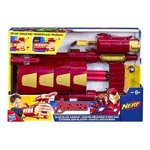 MARVEL AVENGERS IRON MAN Diapositive Blast Armour nerf lot jeu jouet
